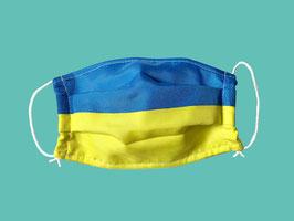 Behelfs-Mund-Nasen-Maske, blau-gelb