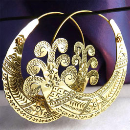 'Tribal' Open Hoop Earrings #23
