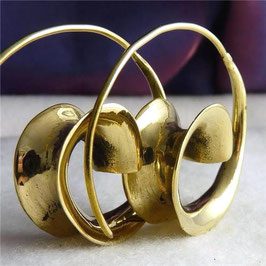 3D Swirl Brass Hoops Design #21