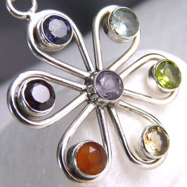 'Flower or Wheel'~ CHAKRA Pendant