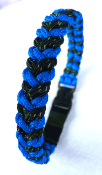 "Paracord-Katzenhalsband ""snake"" blau/schwarz"