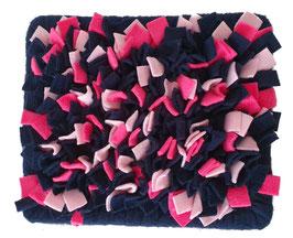 Fummelmatte/ Schnüffelteppich eckig - Marine/Pink/Rosa