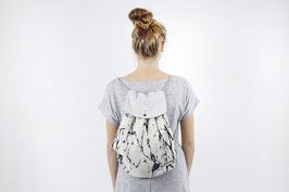 tick-tock 2in 1 Turnbeutel/Rucksack Linen/Sweat Marble