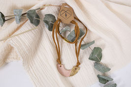 Ton terracotta Kette mit Blattgold/ clay terracotta nechlace with leaf gold