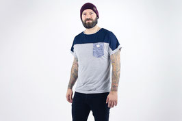 tick-tock Man Shirt Blue/Grey