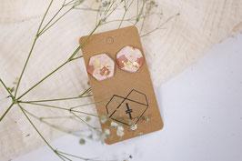Rosé Terazzo Blattgold hexagon/ rose terazzo leaf gold hexagon