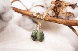 Gerda- Jade grün Edelstahl Hanger