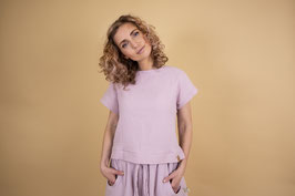 """""""Doro"""" Musselin Shirt cropped Lilac"""
