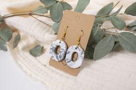 Marmor Ton Ohrringe Loop/ marble clay earrings loop