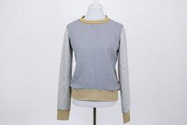 "tick-tock Musselin- Sweatshirt ""Mira"" Grau/Senf"