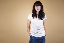 tick-tock Ladies Jersey fair Shirt Basic Knot Weiß