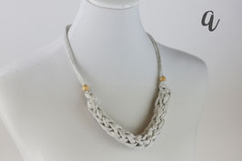 Geflochtene Kette /  knitted necklace