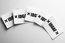 5x  ✖ IDGAF ✖ STICKER