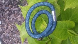 STARDUST ARMBAND, doppelt gewickelt jeansblau mit funkelnden Kristallen