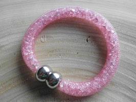 STARDUST ARMBAND, rosé mit funkelnden Kristallen
