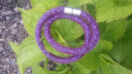 STARDUST ARMBAND, doppelt gewickelt lila mit funkelnden Kristallen