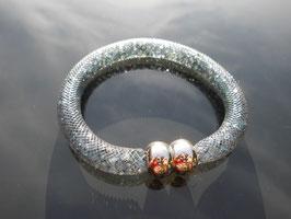 STARDUST ARMBAND, grau mit funkelnden Kristallen
