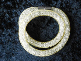 STARDUST ARMBAND, doppelt gewickelt, zitronengelb, mit funkelnden Kristallen