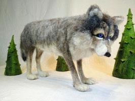 Gefilzter Wolf, Felted Wolf