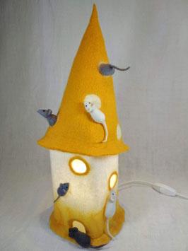 Gefilzte Mäuse-Lampe