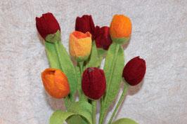 Tulpe handgefilzt.