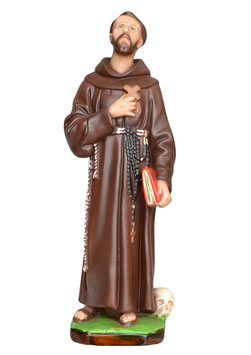 Saint Francis of Assisi statue cm. 42