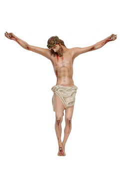 Body of Christ fiberglass statue cm. 80