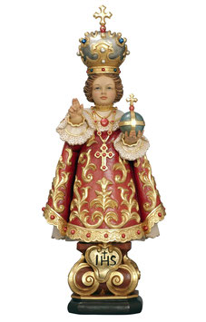 Infant of Prague woodcarving