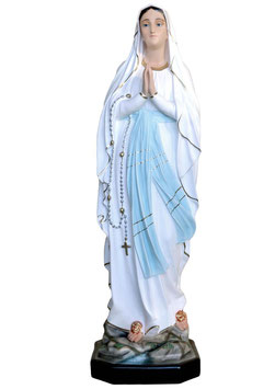 Our Lady of Lourdes resin statue cm. 107