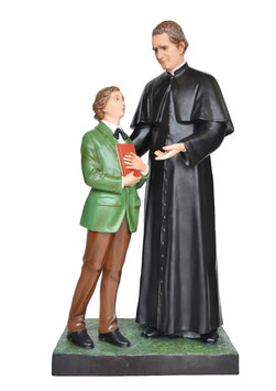Saint John Bosco statue cm. 170 with Dominic Savio