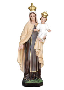 Our Lady of Mount Carmel resin statue cm. 60