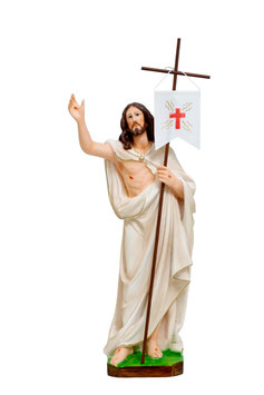 Jesus resurrection resin statue cm. 40