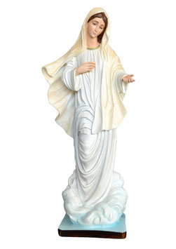 Our Lady of Medjugorje resin statue cm. 60