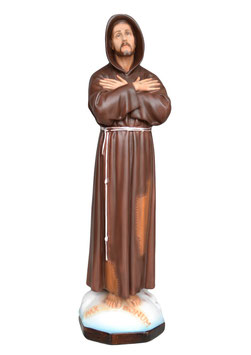 Saint Francis of Assisi statue cm. 60