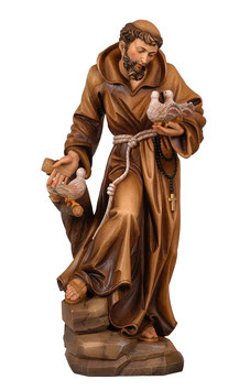 Saint Francis of Assisi woodcarving