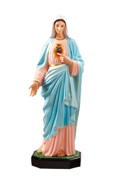 Immaculate Heart of Mary fiberglass statue cm. 110