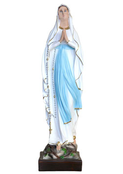 Our Lady of Lourdes resin statue cm. 87