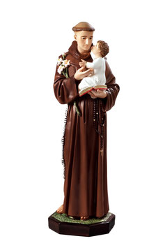 Saint Anthony of Padova statue cm. 100