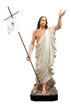 Jesus resurrection resin statue cm. 85