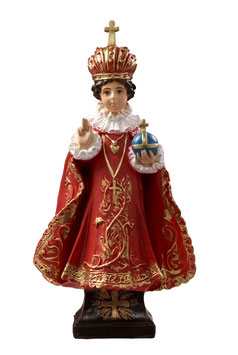 Infant of Prague resin statue cm. 40