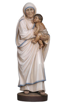 Mother Teresa of Calcutta woodcarving