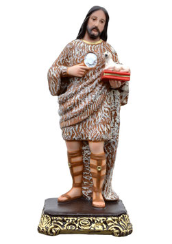 Saint John the Baptist statue cm. 40