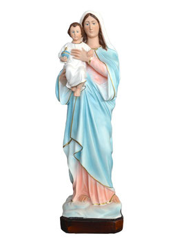 Mary and Baby resin statue cm. 50