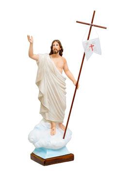 Jesus resurrection resin statue cm. 65
