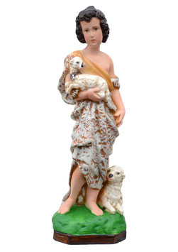 Saint John the Baptist ( child ) statue cm. 32