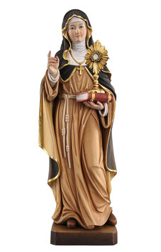 Saint Clare woodcarving