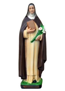 Saint Catherine of Siena statue cm. 40