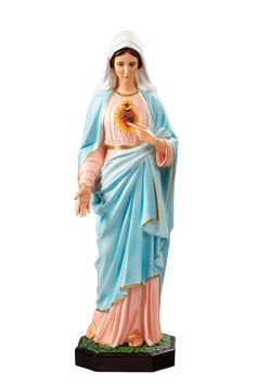 Immaculate Heart of Mary statue cm. 85