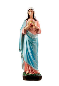 Immaculate Heart of Mary statue cm. 65