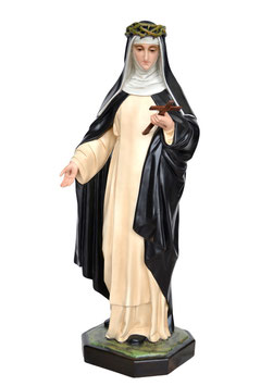 Saint Catherine of Siena statue cm. 82